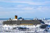 Cruiseship Costa Deliciosa  Disko Bay  Greenland