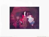 Walt Disney's Peter Pan: Captain Hook, Smee and Tinkerbell Reproduction d'art