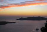 Sunset on the Caldeira of Santorini  Greece