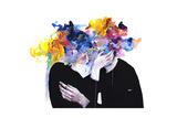 Intimacy on Display Reproduction d'art par Agnes Cecile