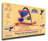 Brett Hull 500th Goal Mega Ticket - St Louis Blues