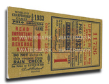1933 World Series Mega Ticket - New York Giants