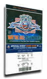 Core of the Four New York Islanders 25th Anniversary Mega Ticket