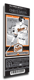 Chris Davis Artist Series Mega Ticket - Baltimore Orioles