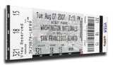 Barry Bonds 756 Home Run Mega Ticket - San Francisco Giants