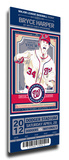 Bryce Harper Artist Series Mega Ticket - Washington Nationals