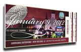 2012 BCS National Championship Game Mega Ticket - Alabama Crimson Tide