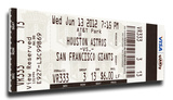 Matt Cain Perfect Game Mega Ticket - San Francisco Giants