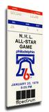 1976 NHL All-Star Game Mega Ticket  Flyers Host - MVP Mahovlich