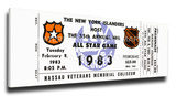 1983 NHL All-Star Game Mega Ticket  Islanders Host - MVP Gretzky