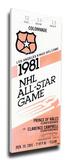1981 NHL All-Star Game Mega Ticket  Kings Host - MVP Mike Liut