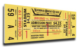 Bobby Orr First NHL Game Mega Ticket - Boston Bruins