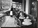 Kissing at Sidewalk Cafe  Paris