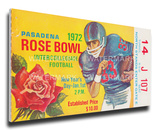1972 Rose Bowl Mega Ticket - Stanford Indians