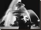 Man and Woman Near Fountain  Paris 1951