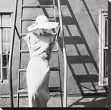 Modeling Linen Summer Dress  1949