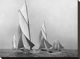 Sailboats Sailing Downwind  CA 1900-1920