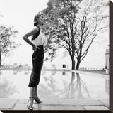 Model in Halter -Top Dress