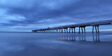 Jacksonville  Florida: Reflections of the Pier Bounce Off the Incoming Tide