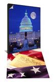 US Capital  Washington  DC & US Flag  Constitution Set