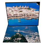 Aerial View of Mykonos  Hora and Harbour  Greece & City with the Cristo Redentor Statue  Brazil Set