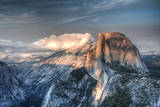 Yosemite National Park  California: Clouds Roll in on Half Dome as Sunset Falls on the Valley