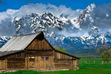 Grand Tetons  Wyoming: an Old Barn Located in the Historic District of Jackson Hole