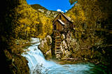 Crystal Mill Is an Old Ghost Town High Up in the Hills of the Maroon Bells  Colorado