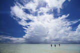 Anglers Walk to the Outer Reef of St Francois Atoll  Seychelles