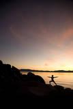 Young Woman Doing Yoga at Lake Tahoe  California