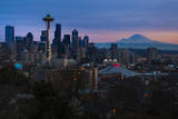 The City Skyline of Seattle  Washington from Kerry Park - Queen Anne - Seattle  Washington