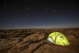 Tent Sits Next to Massive Canyon on Public Land Near Canyonlands National Park  Utah