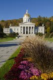 USA  Vermont Montpelier  Capitol Building Dome with Fall Foliage