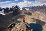 The Summit of Pico Austria in Bolivia's Cordillera Real