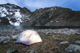 4 Person Tent Glows with a Lantern at the Base of an Alpine Route in Alice  Colorado