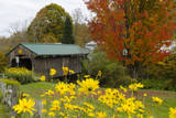 USA  Vermont  Waterville Church Street Covered Bridge in Fall