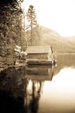 Scenic Image of Boathouse on Fallen Leaf Lake  California