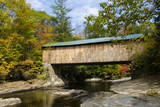 USA  Vermont  Waterville Montgomery Covered Bridge with Fall Foliage