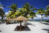 Picnic Huts on the Beaches of Alphonse Island  Seychelles