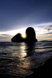 Sunset on Pranang Beach  Railay  Thailand