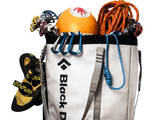 A Haul Bag Overloaded with Rock Climbing Gear