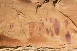 Utah  Canyonlands  Horseshoe Canyon  Great Gallery  Petroglyphs