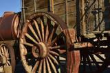 Mule Train Wagon  Harmony Borax Works  Death Valley  California  USA