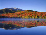 USA  New York  Adirondack Mountains Algonquin Peak and Heart Lake
