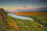 Michigan  Upper Peninsula Sunset at Lake of the Clouds