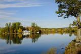 USA  Maine  Norway Lake Pennasseewassee in Autumn Foliage
