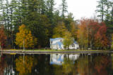 USA  Maine  Norway Lake Pennasseewassee in Autumn Foliage