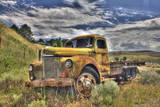 USA  Washington State  Palouse Old Truck Abandoned in Field