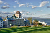 Canada  Quebec  Quebec City Chateau Frontenac Hotel with Cruise Ship