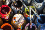 USA  New Jersey  Califon  Artists Paint Pots and Brushes